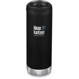 Klean Kanteen TKWide Drinkfles met Café Cap 473ml vacuüm geïsoleerd, shale black (matt)